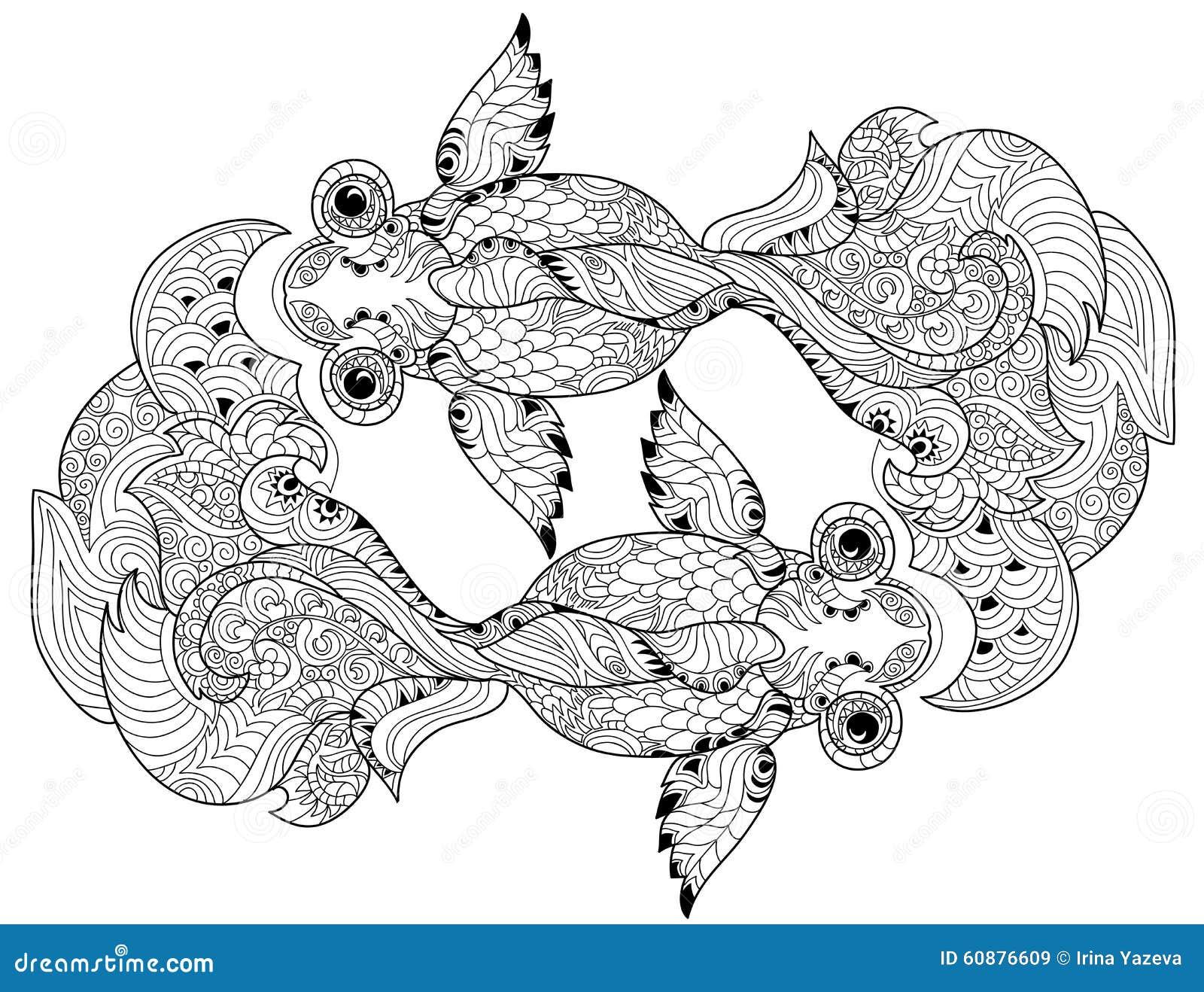 Zentangle Stylized Floral China