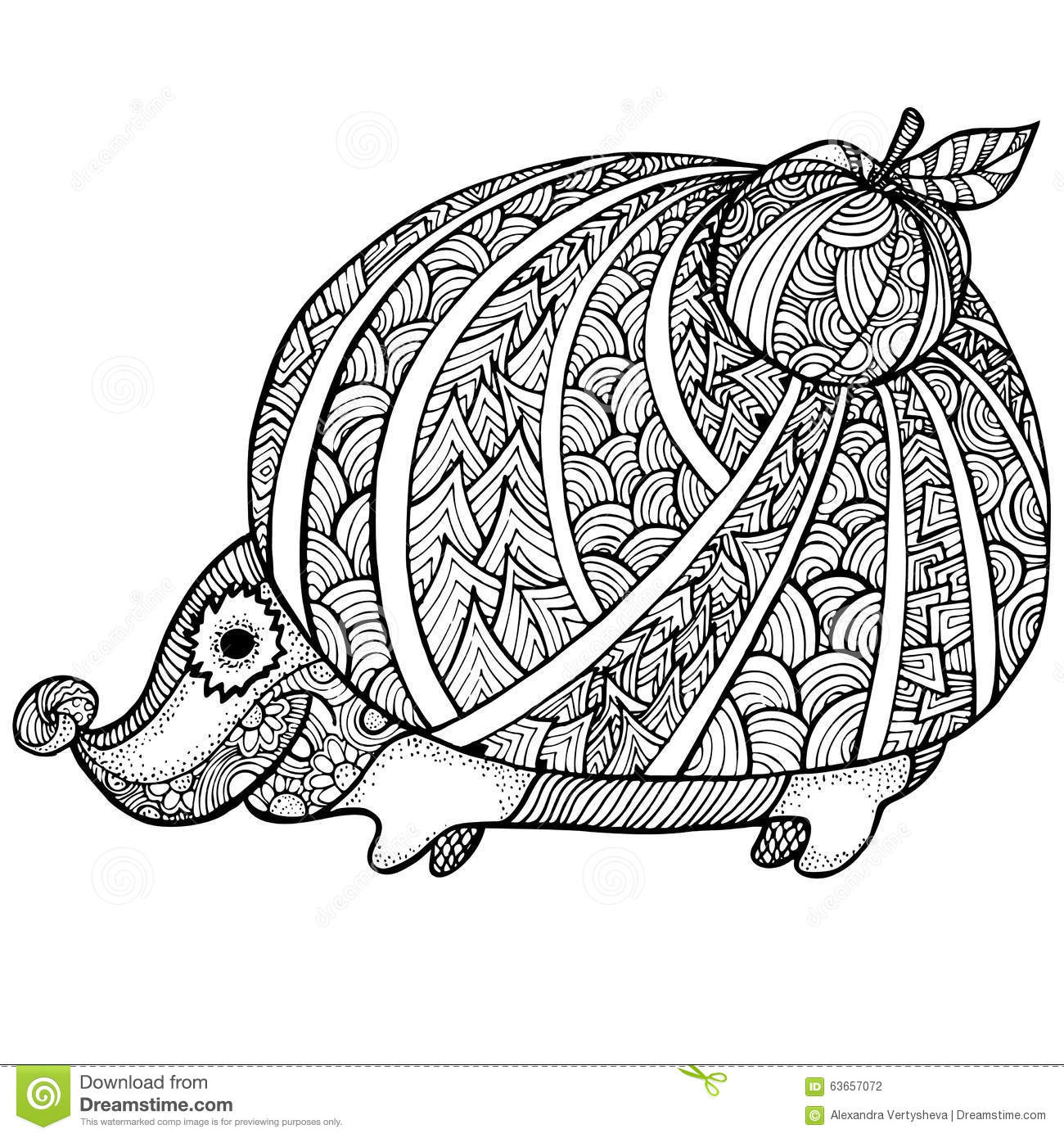 Stress Coloring Pages Animals : Zentangle stylized hedgehog adult anti stress coloring