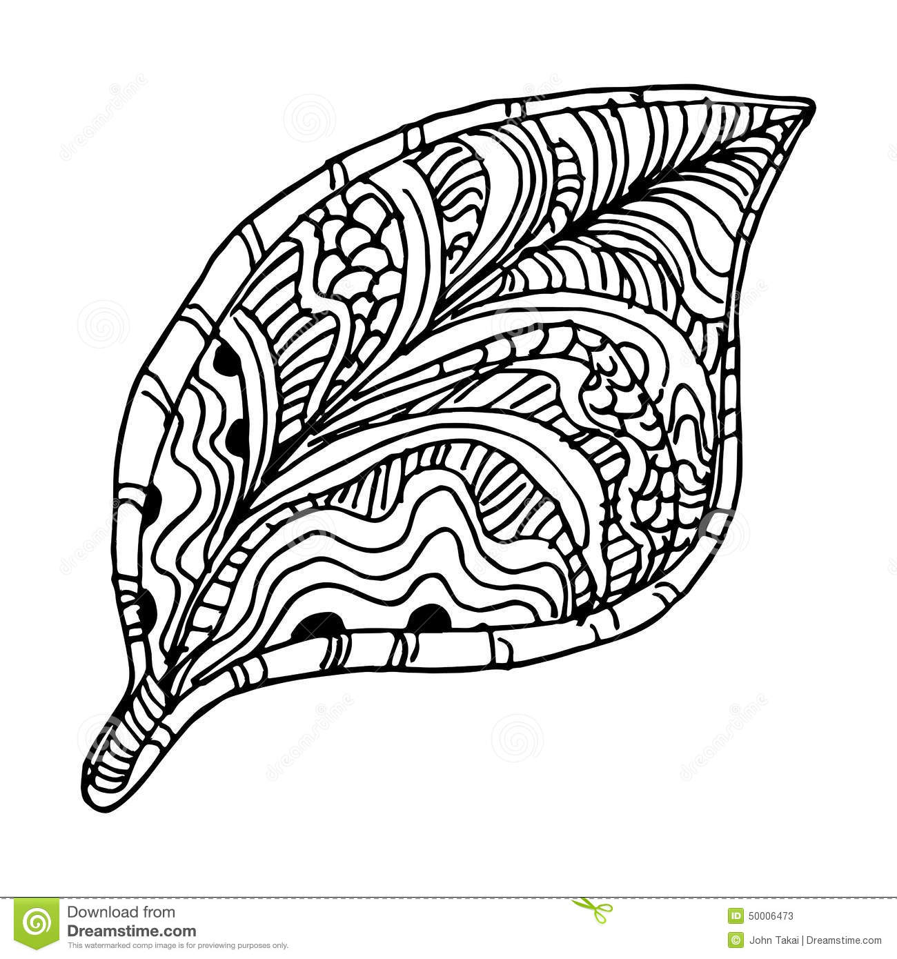 An image of a tree leaf zentangle style mr no pr no 0 591 0
