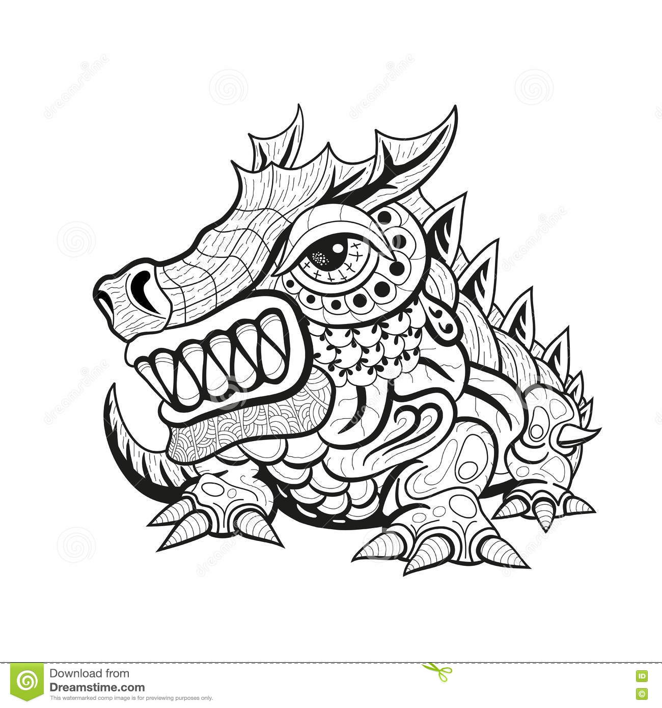 tattoo art sketch of an oriental dragon royalty free stock image 17130052. Black Bedroom Furniture Sets. Home Design Ideas