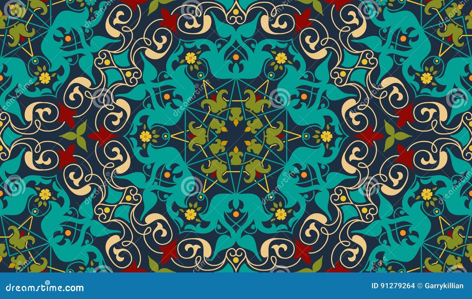 Zentangle utformade den geometriska prydnadmodellbeståndsdelen Orient traditionell prydnad Boho utformade abstrakt geometriskt