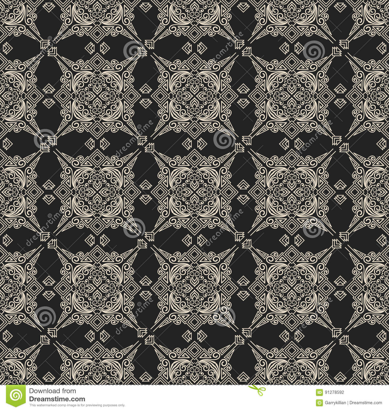 Zentangle utformade geometrisk prydnadmodellbakgrund Orient traditionell prydnad Boho utformade