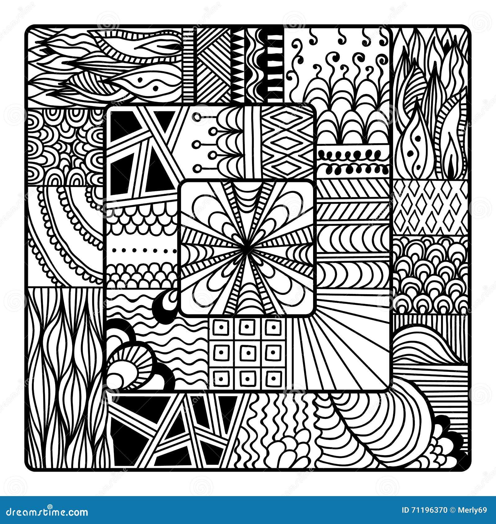 royalty free vector download zentangle vector for coloring book - Zentangle Coloring Book