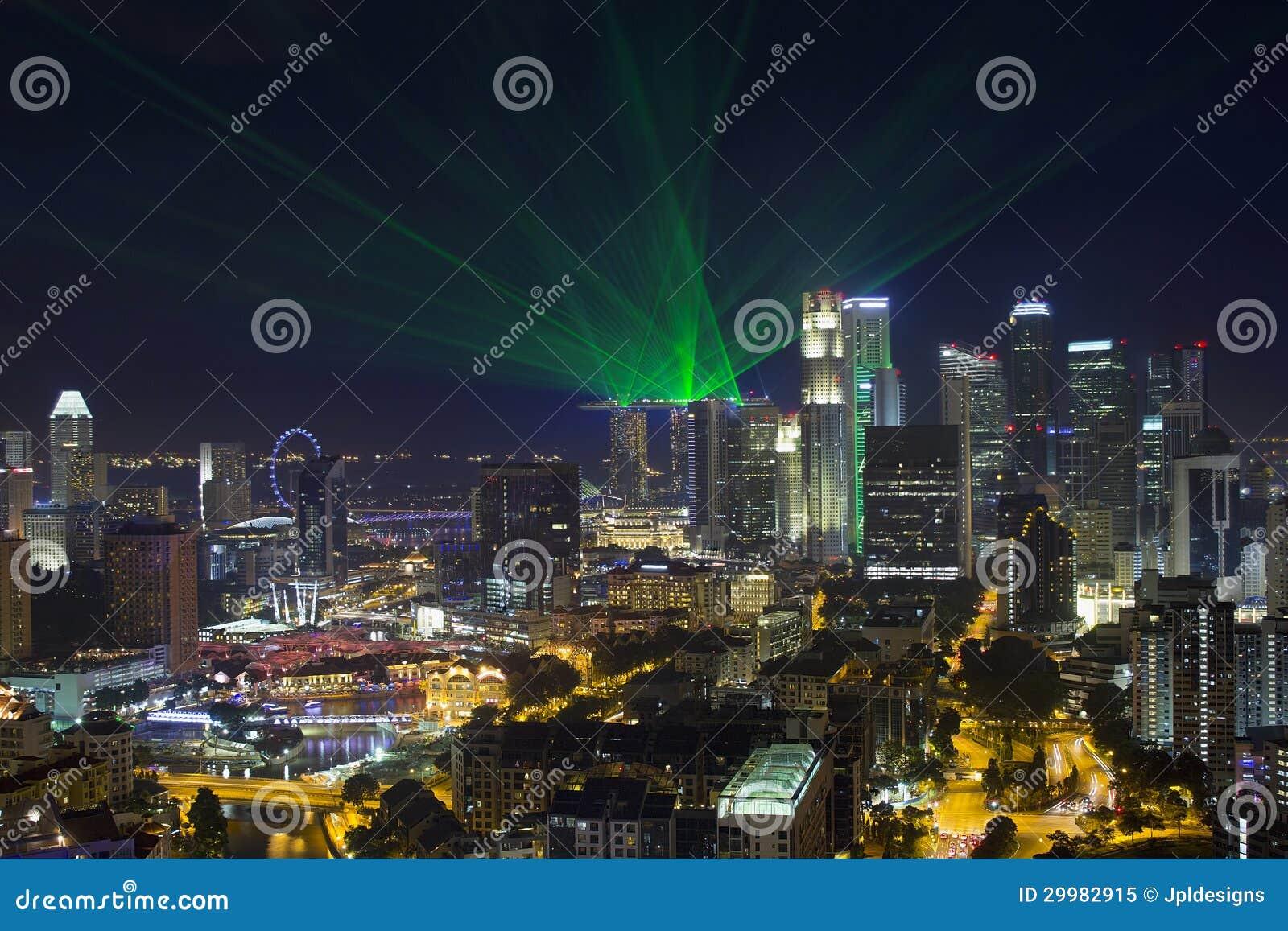 Zentrale Geschäftsgebiet-Skyline Singapurs