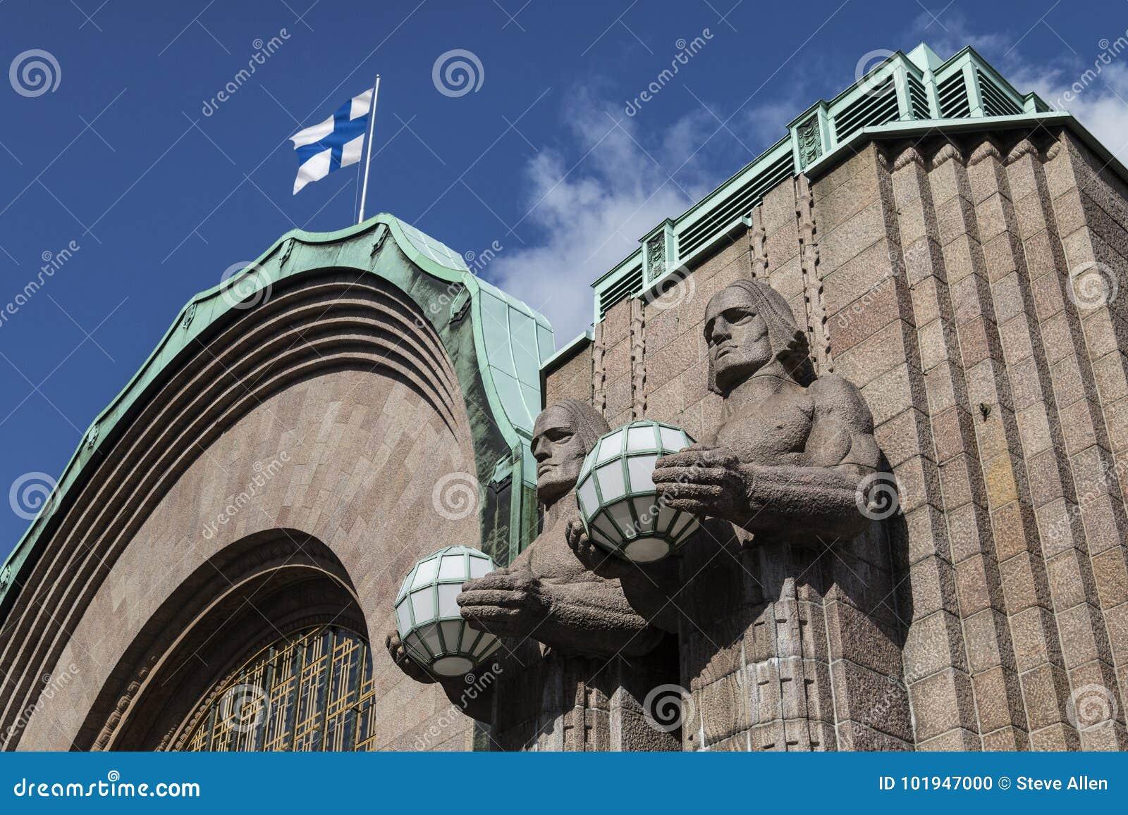 Zentraler Bahnhof - Helsinki - Finnland