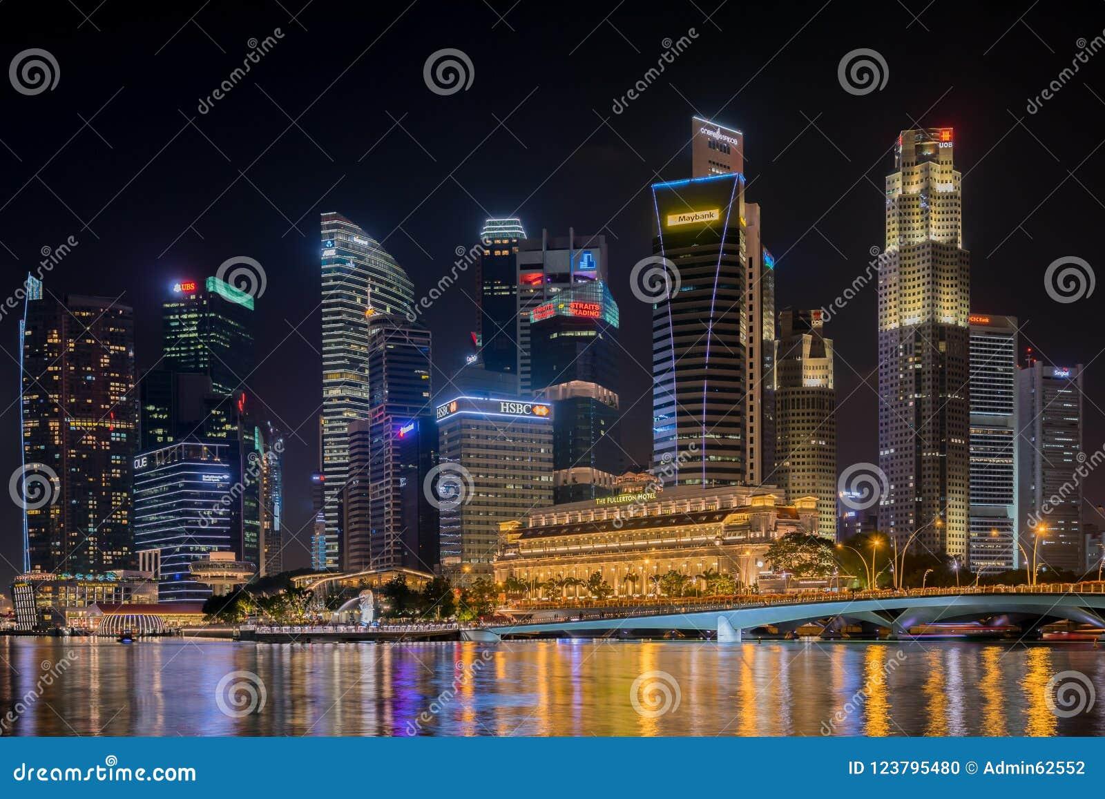 Zentrales Geschäftsgebiet Singapurs am 19. November 2016