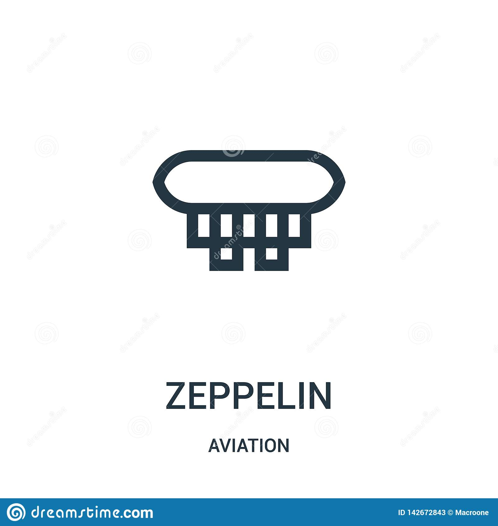 Zeppelin Icon Vector From Aviation Collection  Thin Line