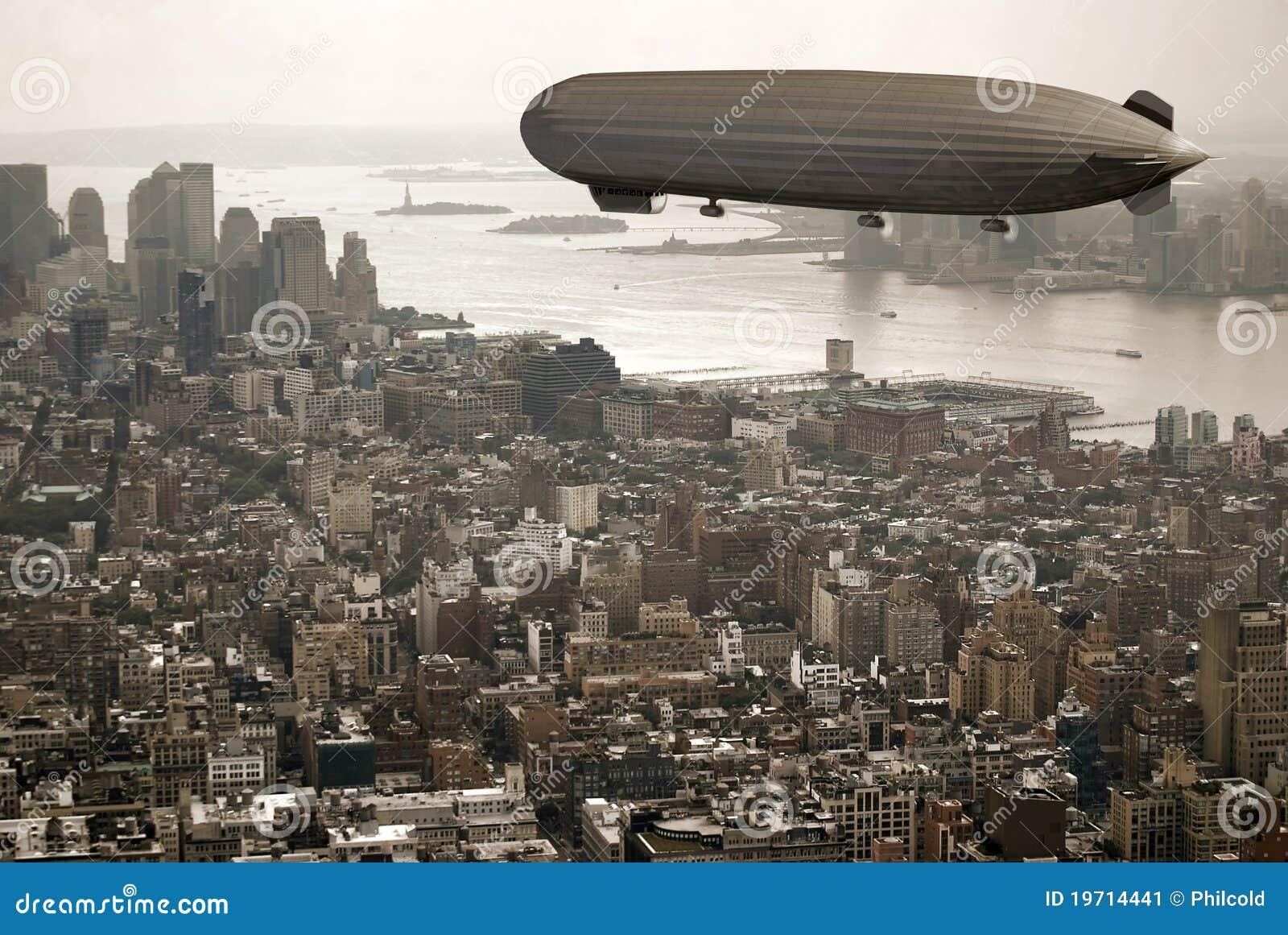 Zeppelin over Manhattan