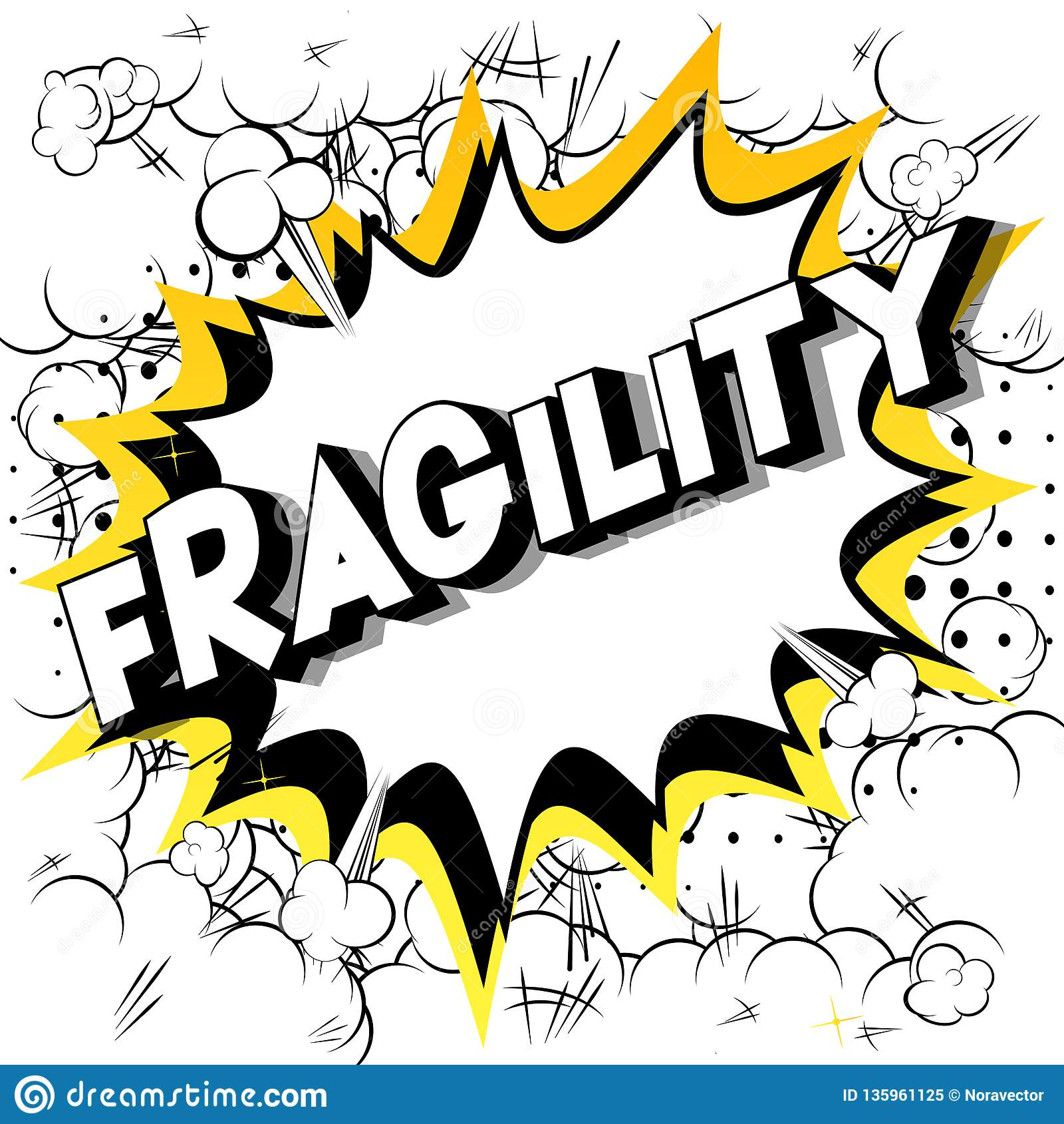 Zerbrechlichkeit - Comic-Buch-Artwörter