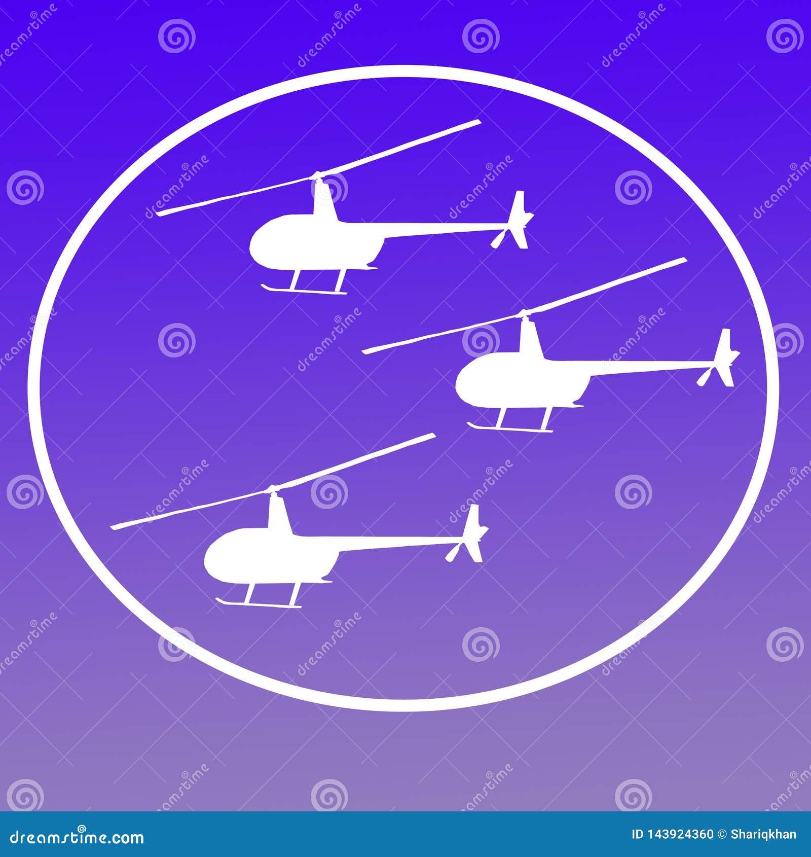 Zerhacker-Hubschrauber Logo Banner Background Image
