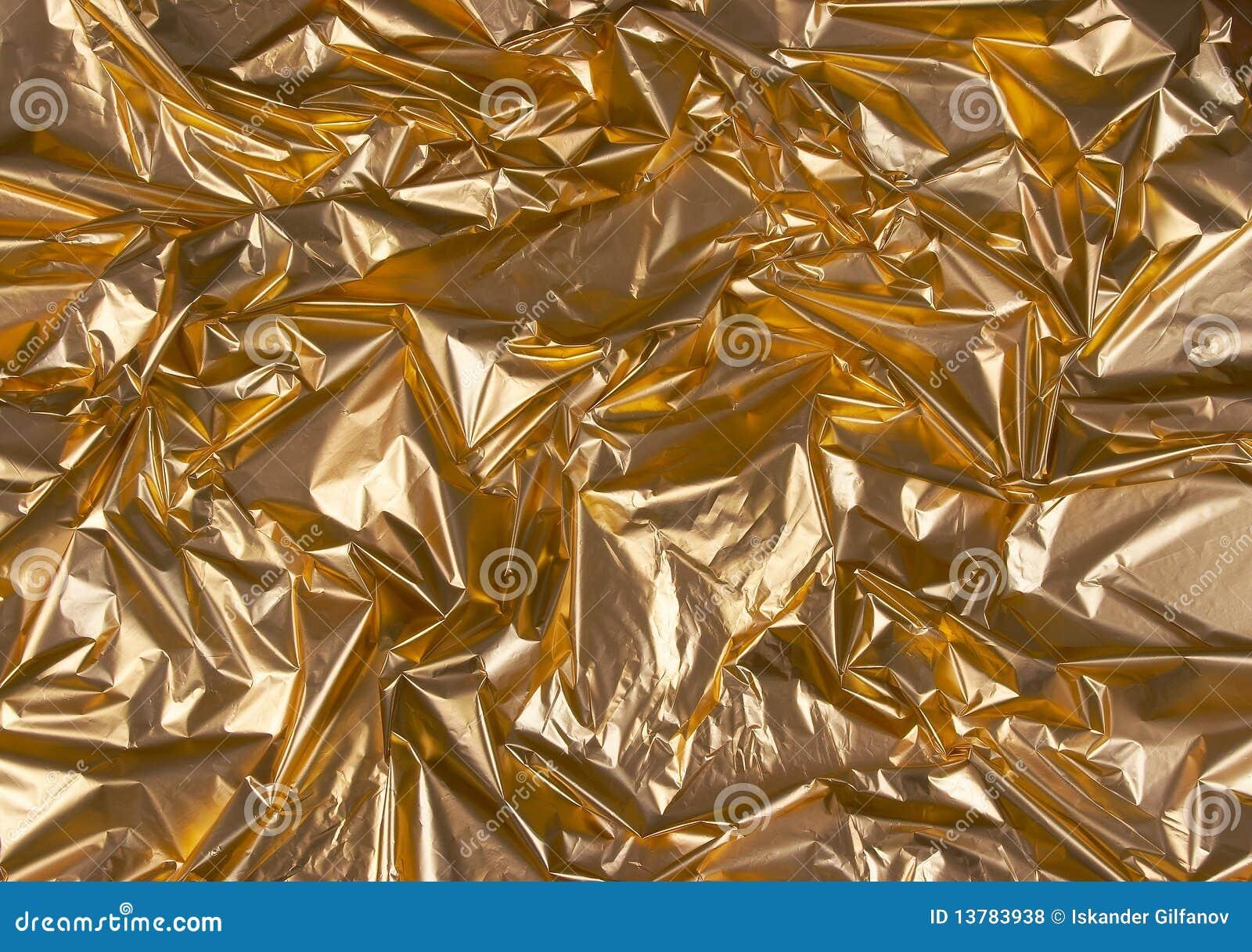 Zerknittert goldene Folie 1