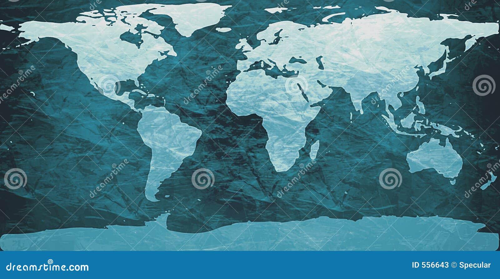 Zerknitterte Weltkarte