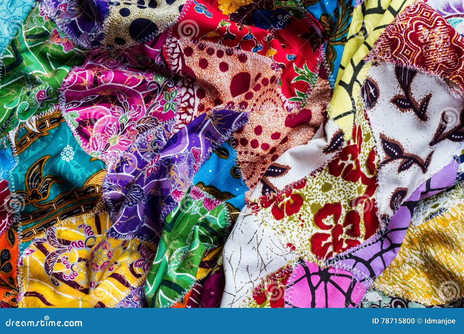 Zerknittertes verschiedenes Gewebe der Collage