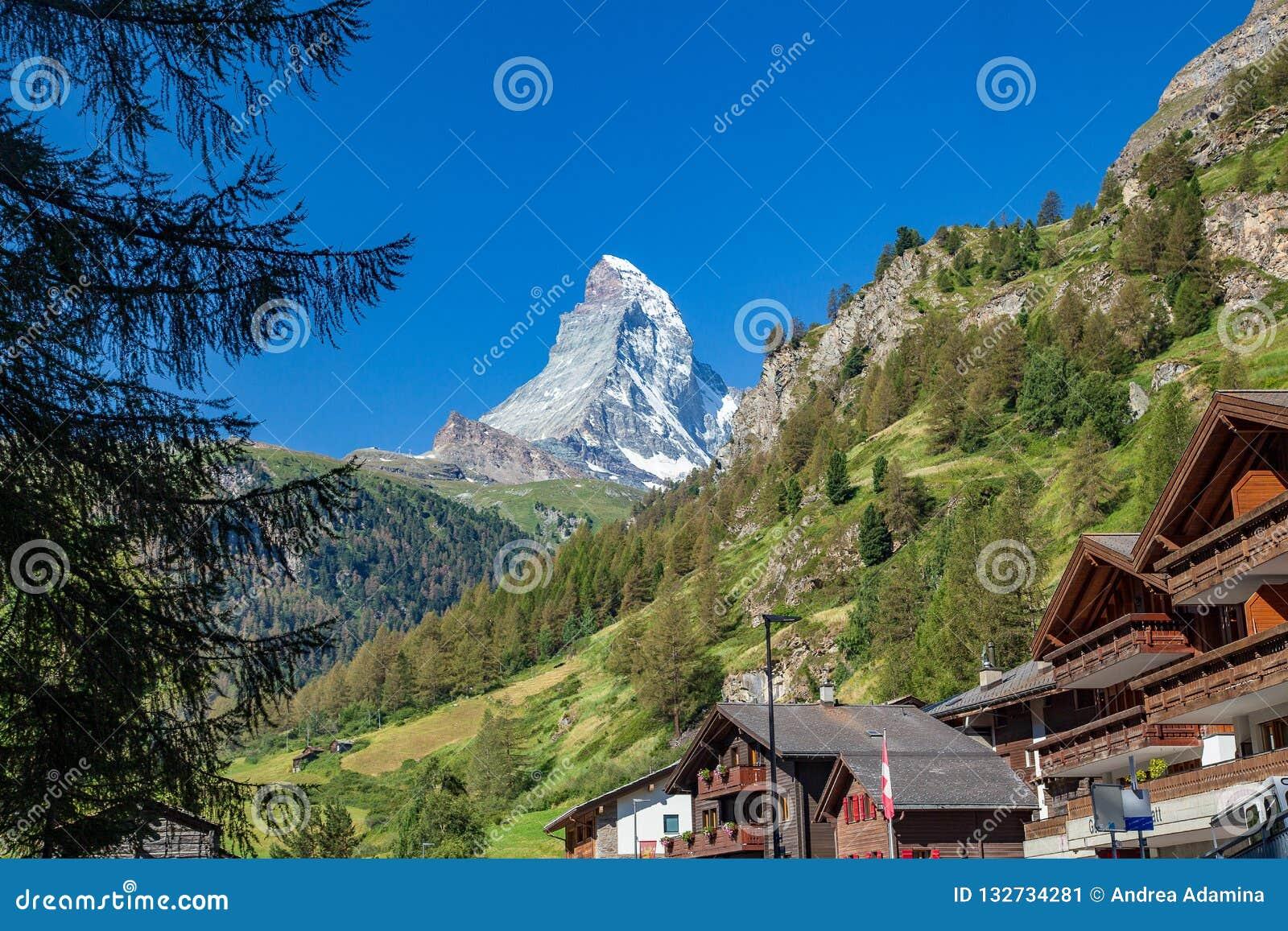 Zermatt, die Schweiz - der ikonenhafte Berg Das Matterhorn