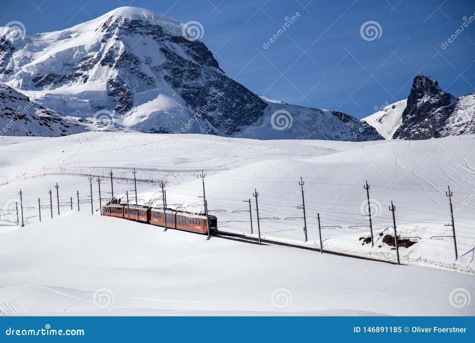 Gornergrat Train in Matterhorn Skiing Area
