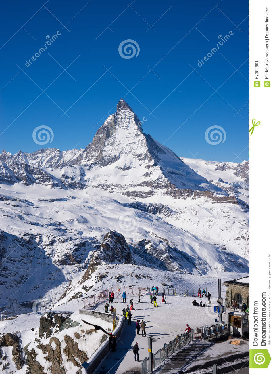 Zermatt Switzerland Matterhorn Ski Resort Stock Image Image of