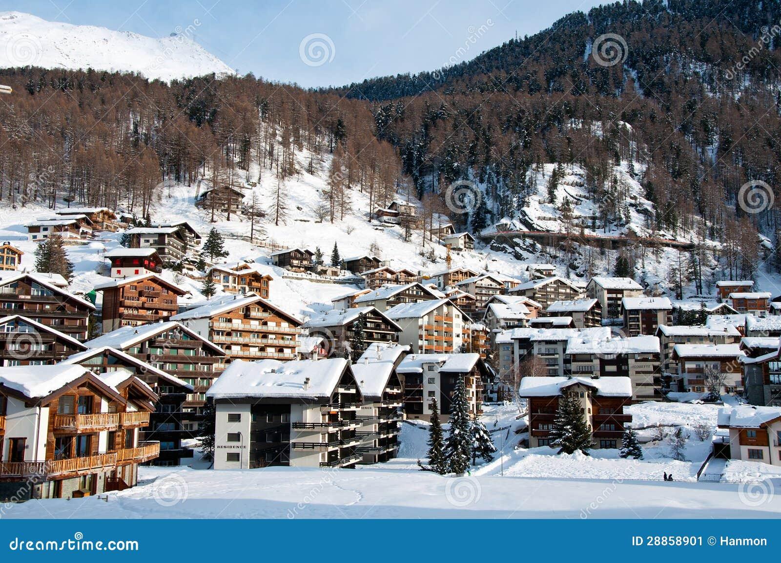 Zermatt Village In Winter Stock Image Image 28858901