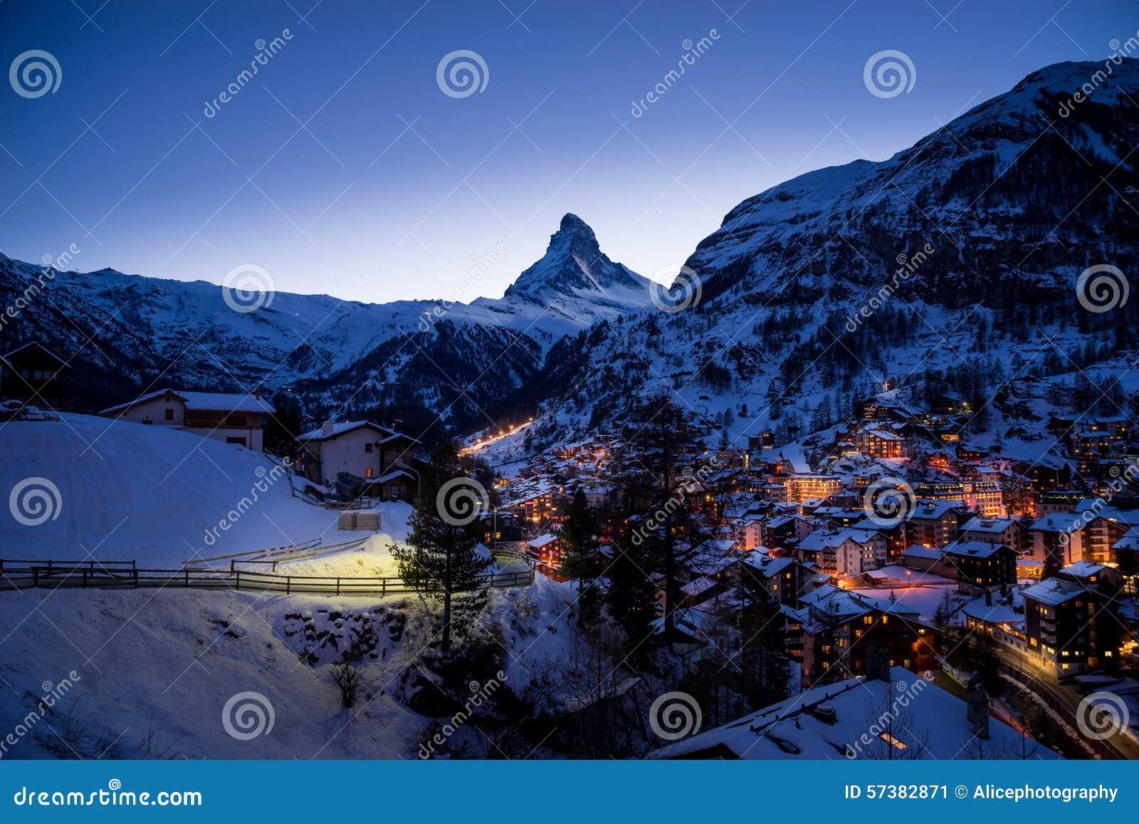 Zermatt, Zwitserland, matterhorn, skitoevlucht