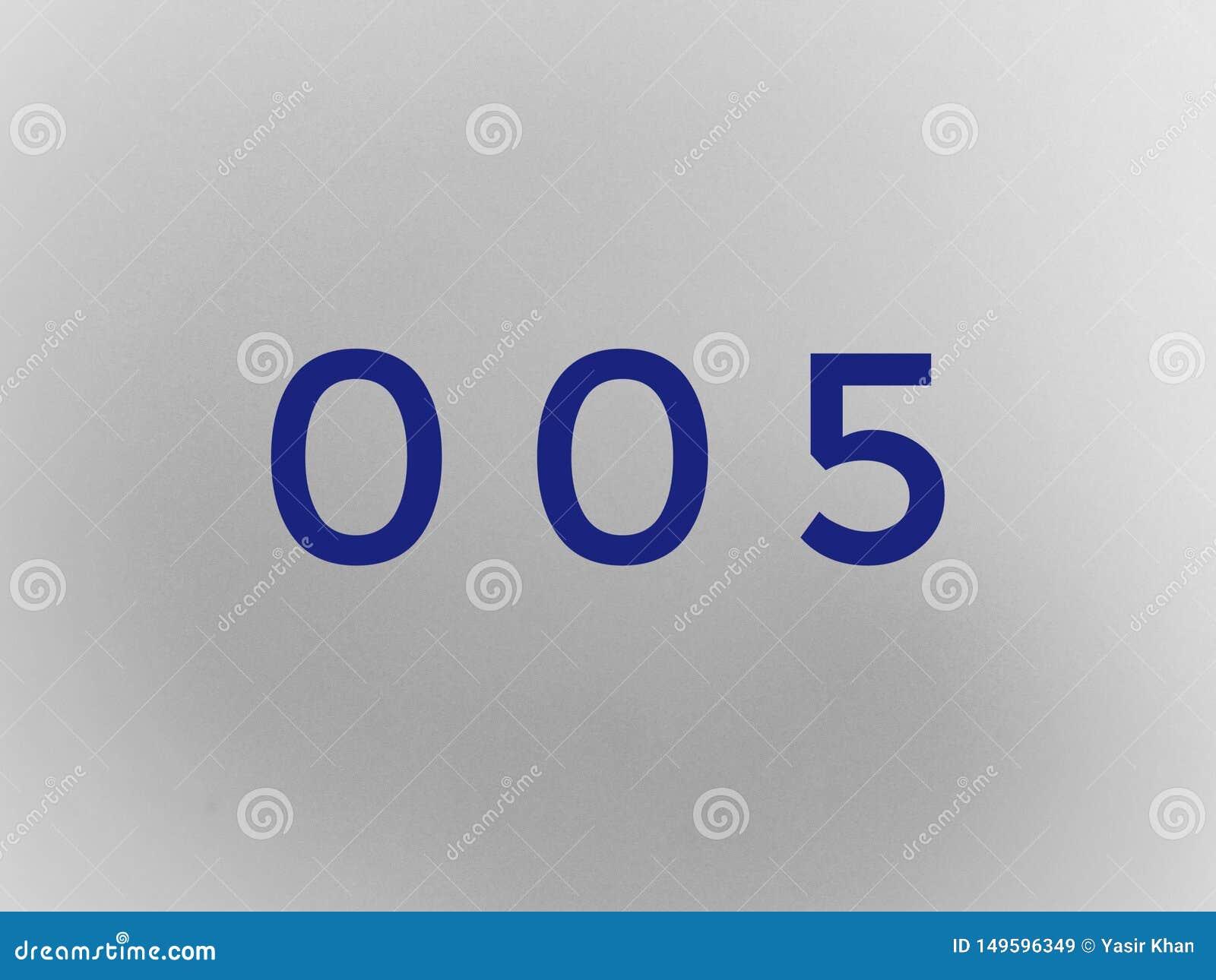 Zero zero one number digit maths font letter