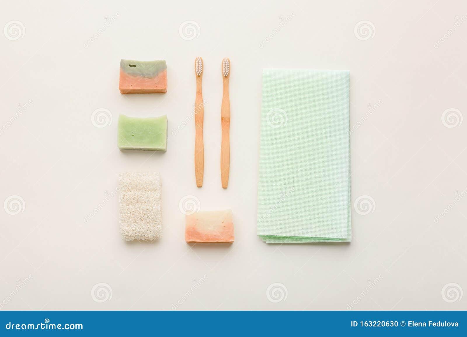 zero waste beauty body care items bathroom essentials in
