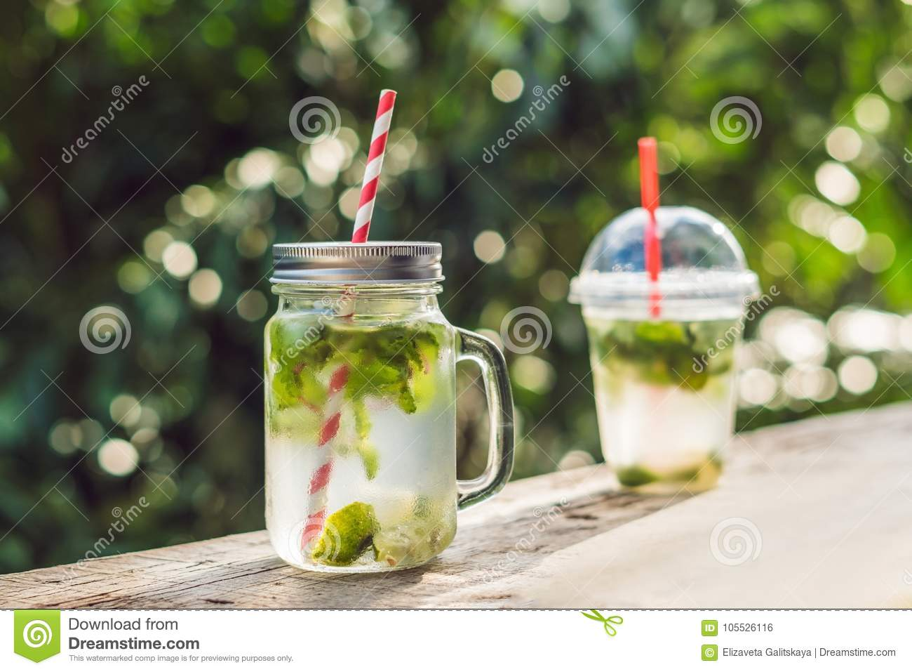 Zero Waste Concept Use A Plastic Glass Or Mason Jar Zero Waste Green And Conscious Lifestyle Concept Reusable On The Go Drink Container Ideas
