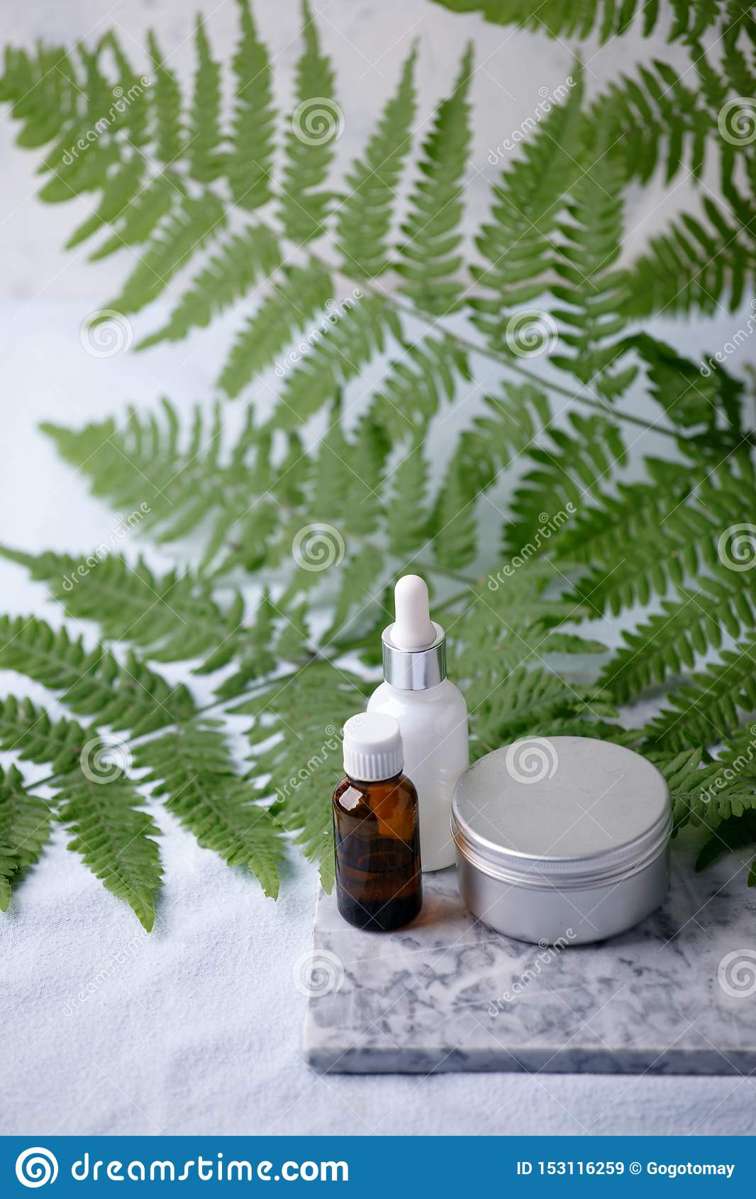 Zero waste natural cosmetics products on marble desk, organic plantbased cosmetic concept, eco-friendly background, minimal