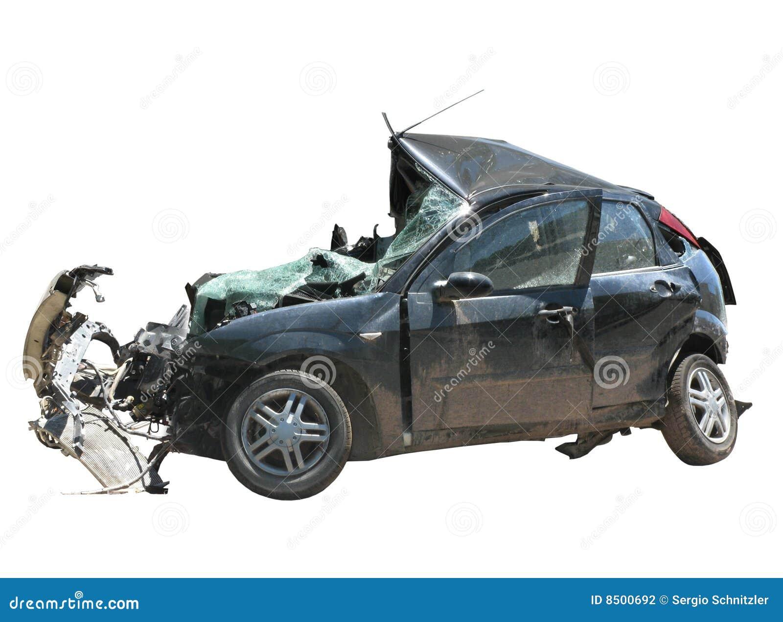 Zerquetschtes Auto