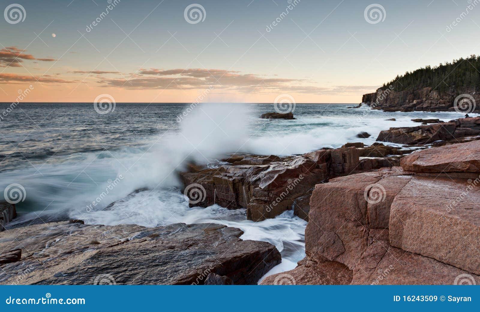 Zerquetschung der Wellen