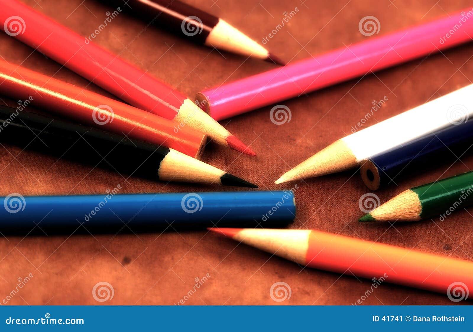 Zerstreute Bleistifte