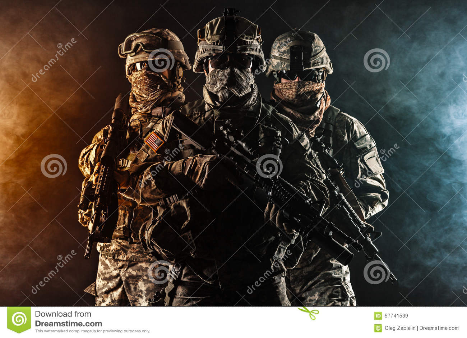 Zerstreute Infanterie der Fallschirmjäger