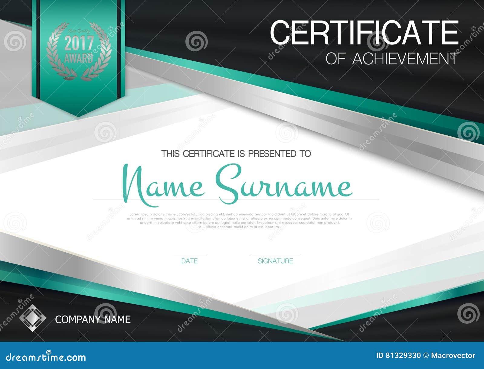 Zertifikat der Leistungsschablone