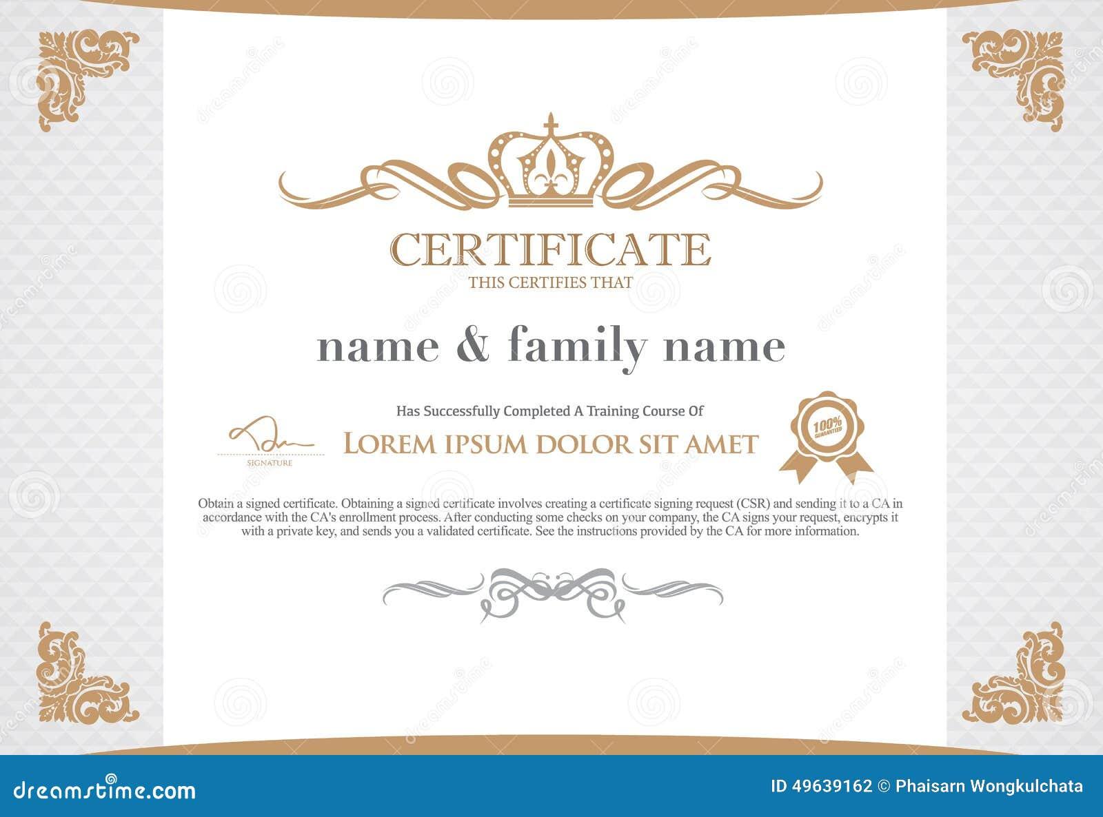 Ziemlich Zertifikat Ai Template Bilder - zertifizierungsstelle ...