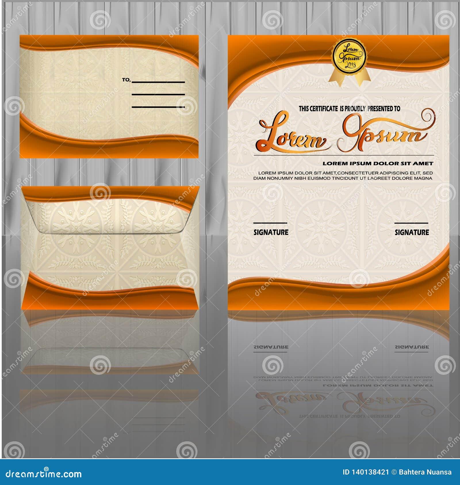 Zertifikat-Design-Schablone