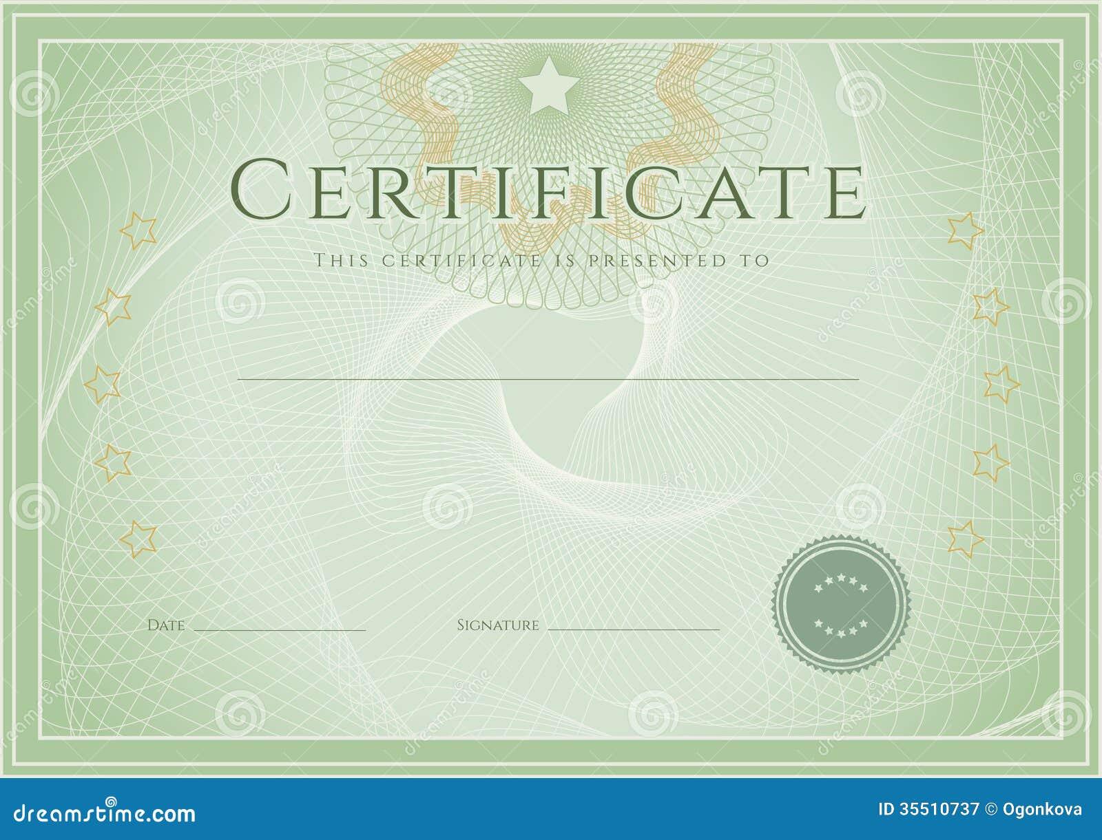 Zertifikat-/Diplompreisschablone. Schmutz Patte Vektor Abbildung ...