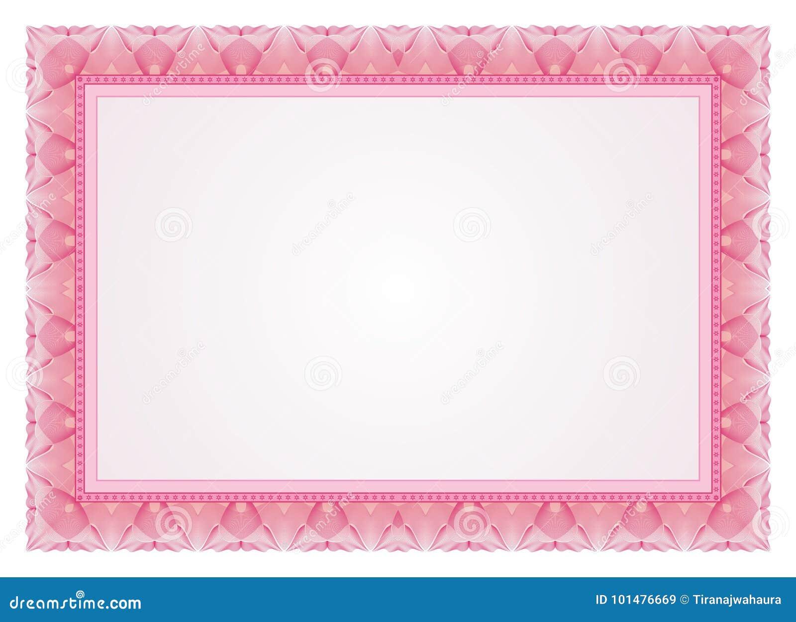 Zertifikat - Rahmen - Grenze Vektor Abbildung - Illustration von ...