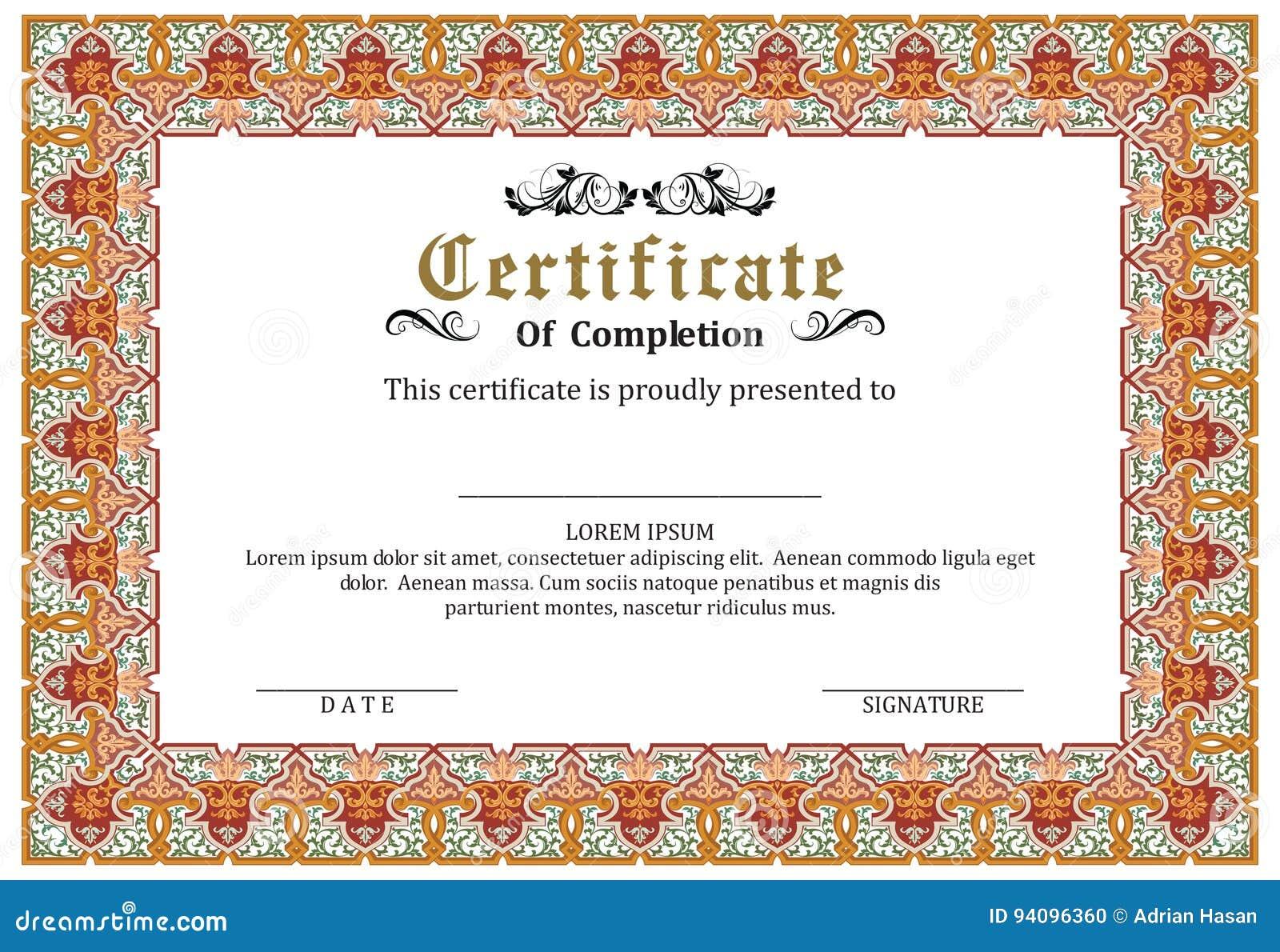 Ziemlich Kostenlose Vorlagen Für Zertifikate Of Completion Bilder ...