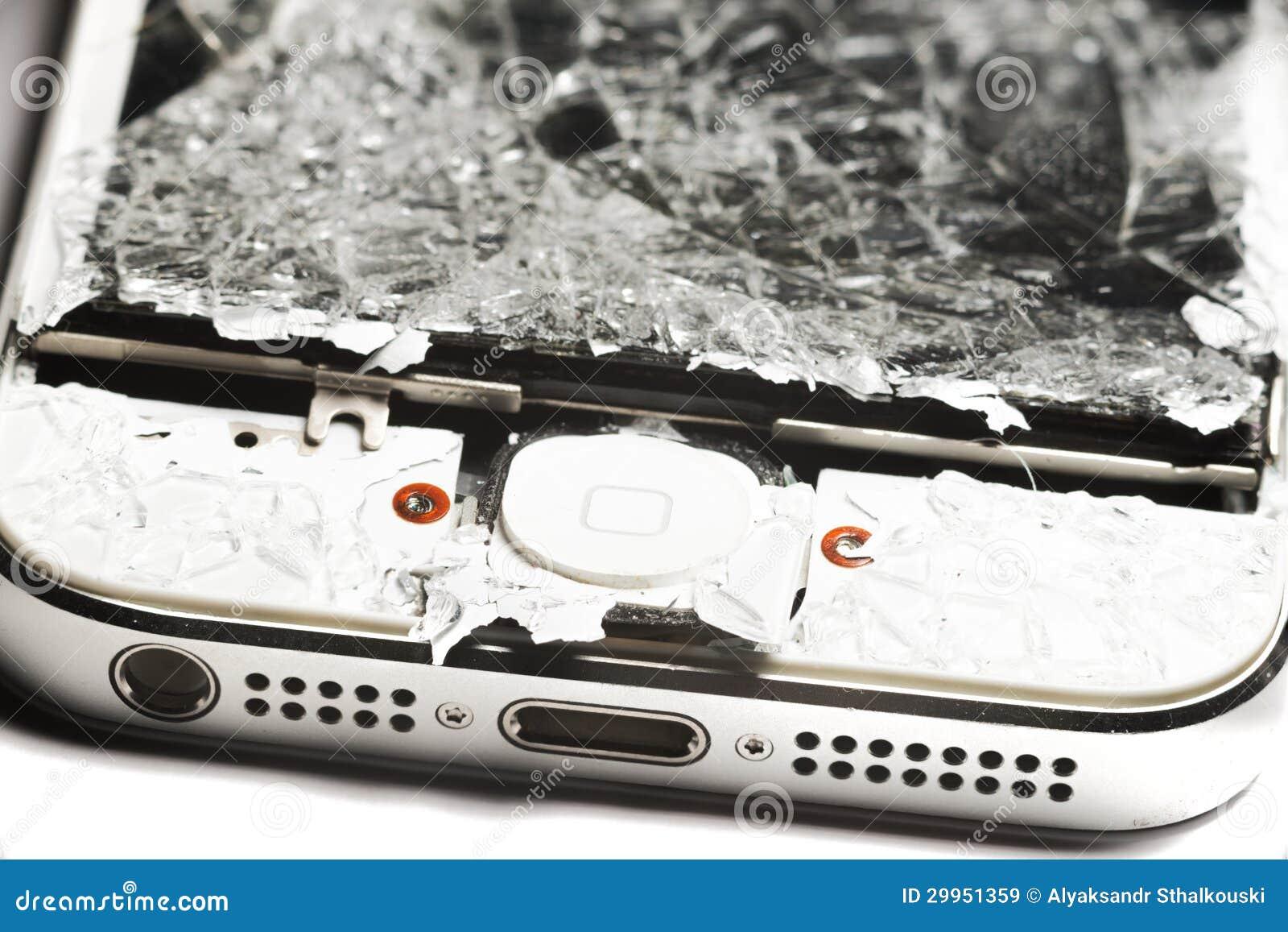 Zertrümmertes intelligentes Telefon