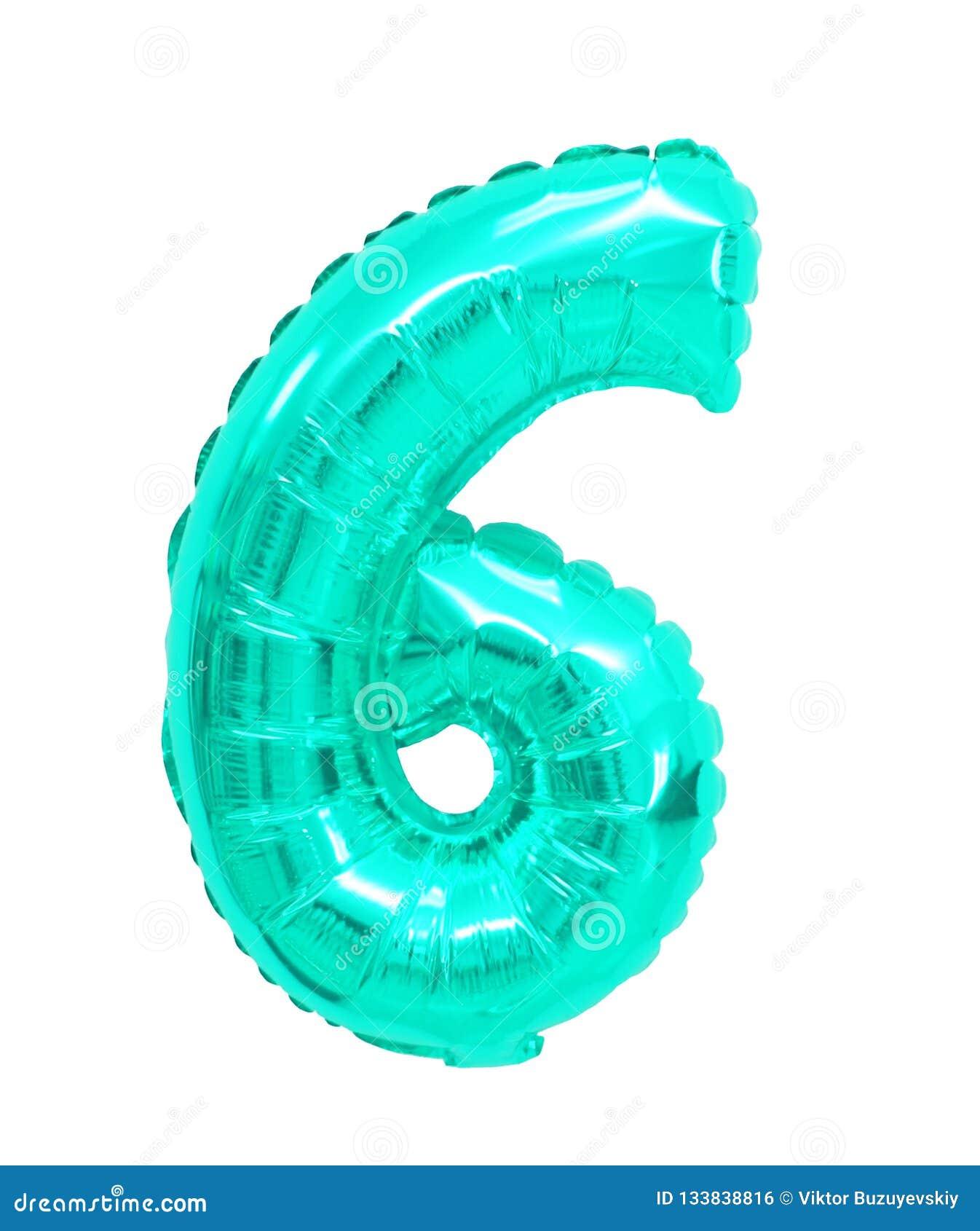 Zes van ballons turkooise kleur