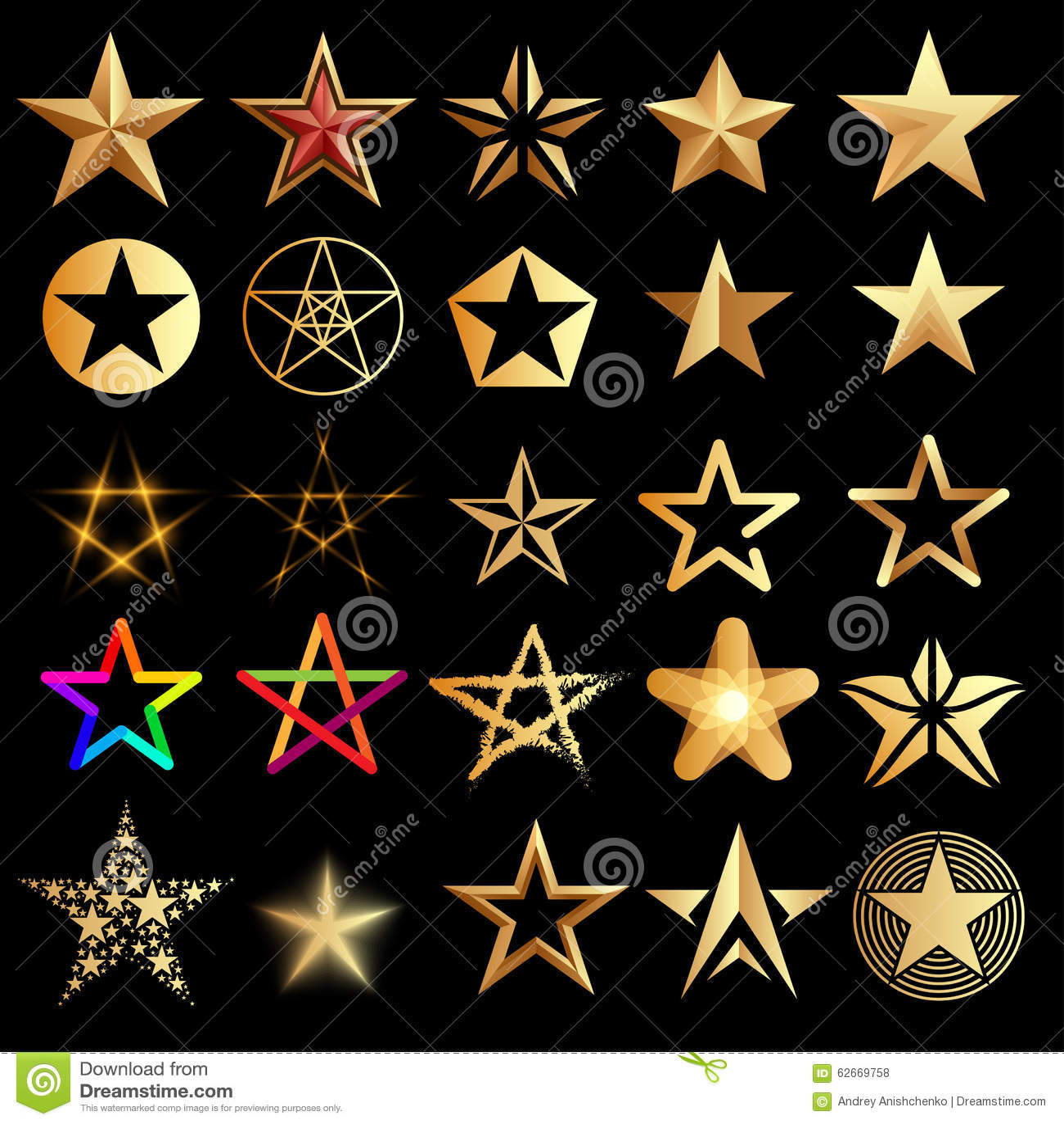 Zestaw gwiazdy