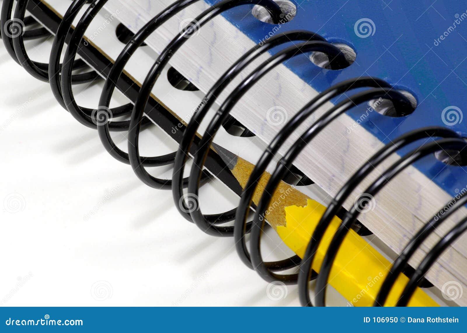Zeszyt ołówka spirali