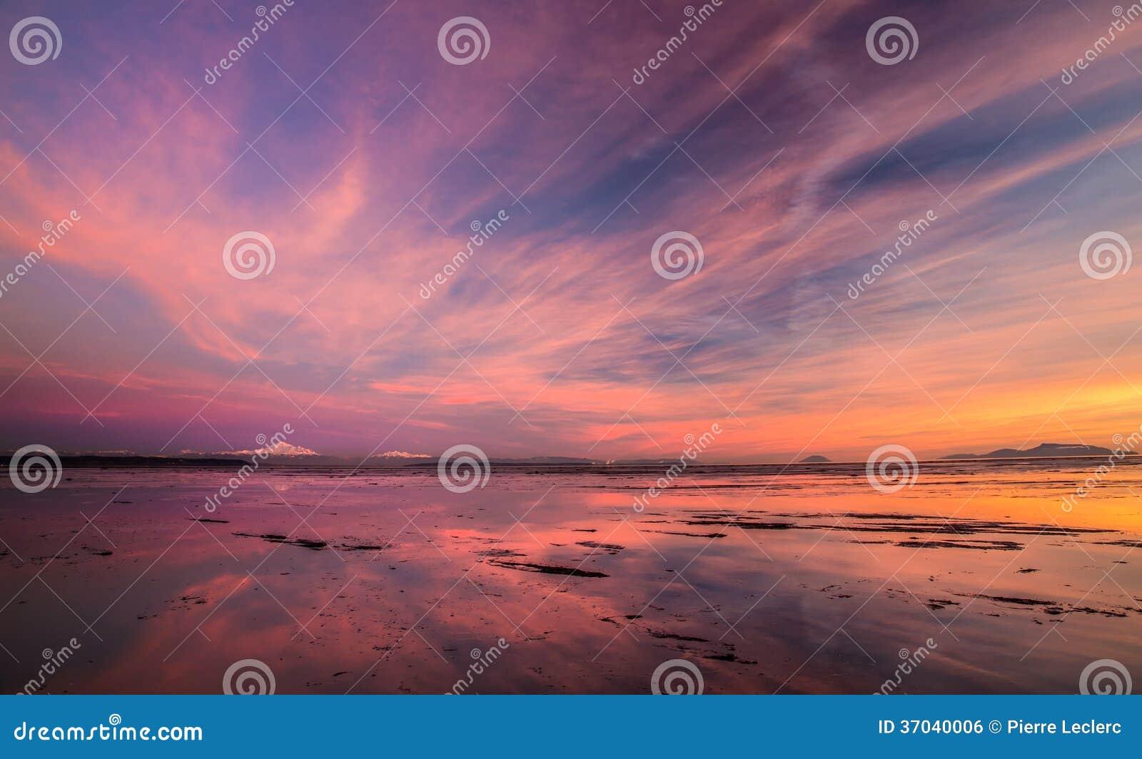 Zet Baker zonsondergang op