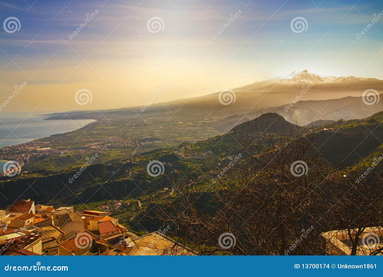 Zet Etna en overzees op