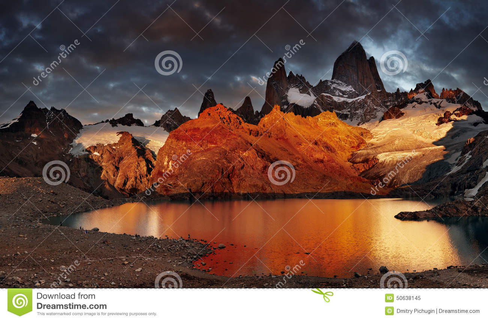 Zet Fitz Roy, Patagonië, Argentinië op