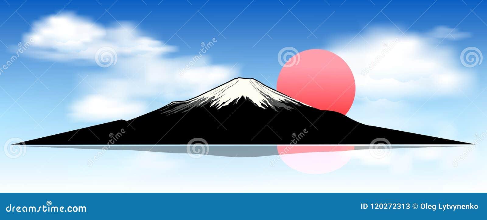 Zet Fuji, bij dageraad op