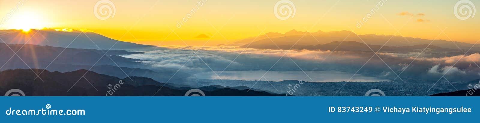 Zet Fuji-zonsopgang op