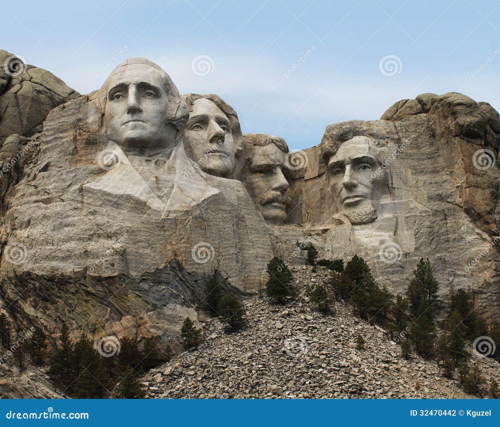 Zet het Nationale Monument van Rushmore op. Zuid-Dakota, de V.S.