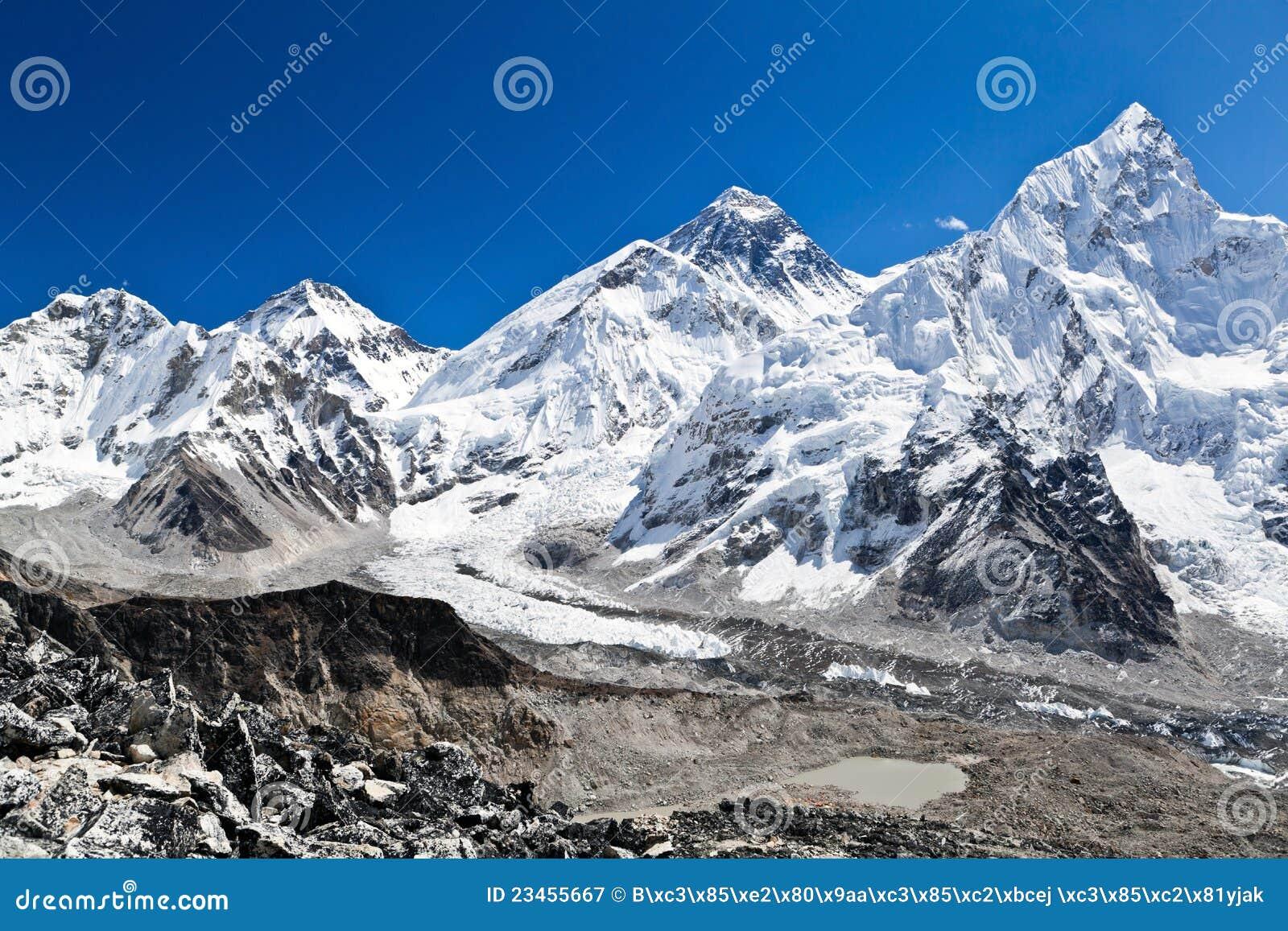 Zet Mening Everest in Himalayagebergte, Nepal op