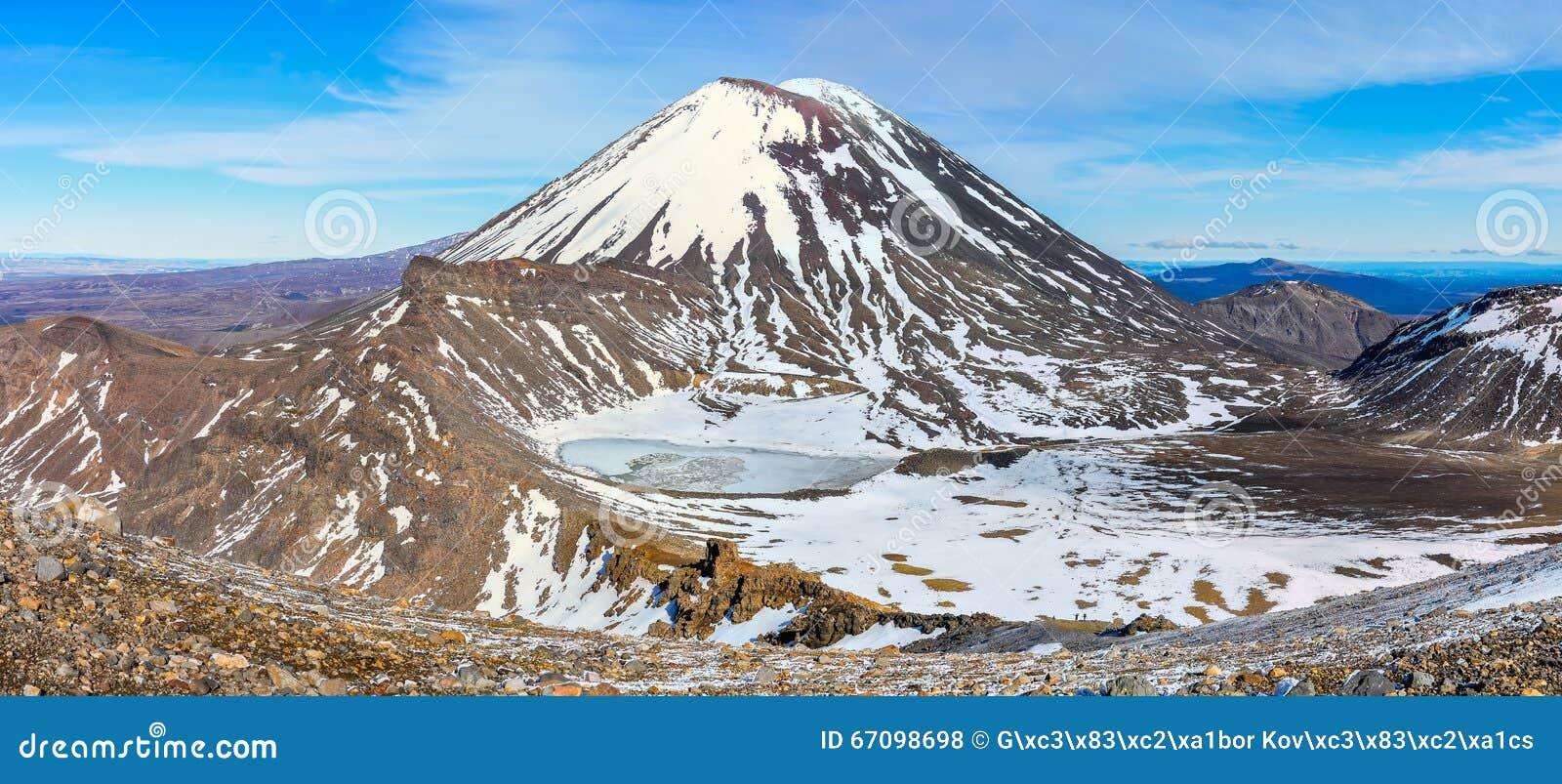 Zet Noodlot en de Zuidenkrater in het Nationale Park van Tongariro op,