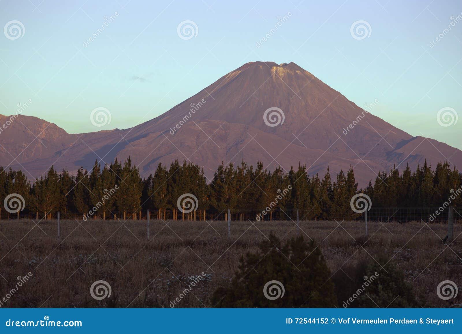 Zet Noodlot op van Nationaal Park bij zonsondergang wordt gezien die