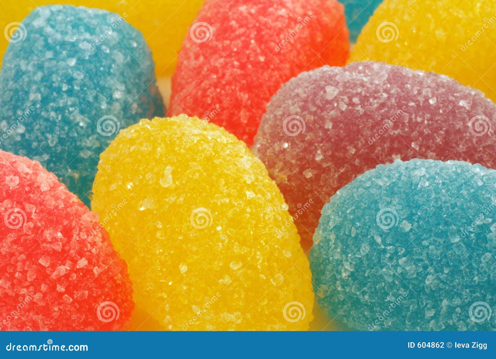 Zet suikergoed op gelei